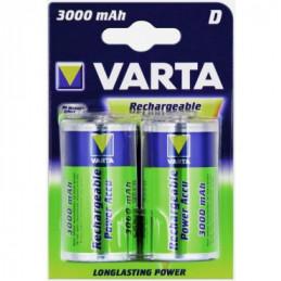 Batteri D Genopladelig Varta 2 stk 3000 mAh 1,2 V